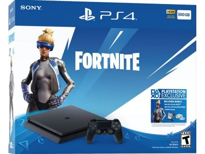 Набор Sony PlayStation 4 Slim (500GB) Black + Fortnite Voucher Code (черный)